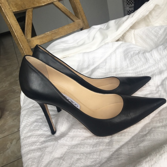 6ef7c2bf0d Jimmy Choo Shoes - JIMMY CHOO SEXY Black Pointy Leather Anouk Pump